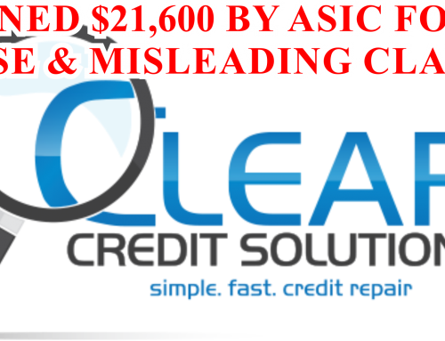 Clear Credit Solutions Pty Ltd (Clear Credit) pays $21,600 after ASIC investigation