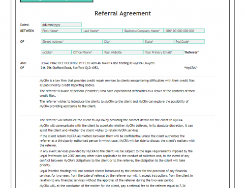 MyCRA Lawyers Formal Written Referrer Agreement – ONLINE