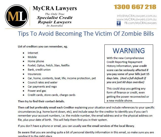 How to avoid becoming victim of zombie bills