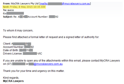 MyCRA Lawyers removes default in just 18 minutes