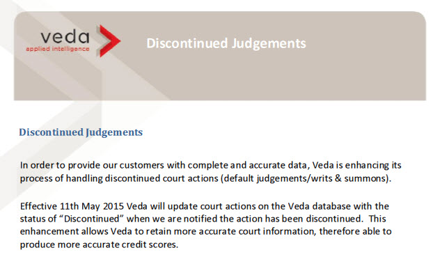 Ve Da Judgment rules have changed