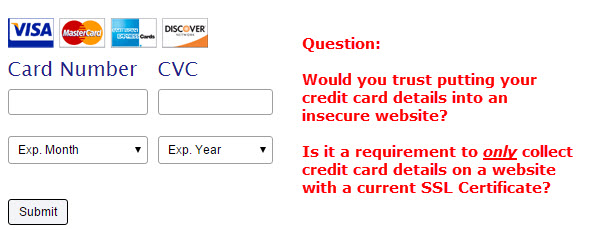 Credit Repair Company putting consumers at risk by taking credit card details on an insecure website